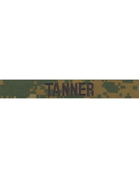 Marines Name Tape Woodland w/out Fastener Emb (Digital) EMB-170