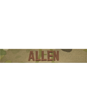 EMB-198, Scorpion USAF Name Tape w. Spice Bwn Emb with Fastener