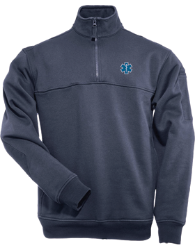 EMS Star of Life 5.11 Quarter-Zip Job Shirt