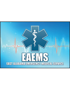 East Alabama Emergency Medical Service Star of Life Rug