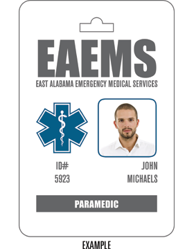 EMS Custom Sublimation Name Badge, 1-Sided