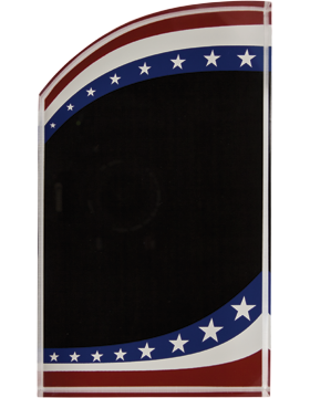 Stars & Stripes Acrylic Plaque, 3.5inx6in Laser Engraved small