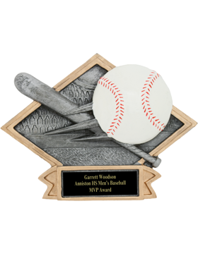 Diamond Plate Baseball Plaque