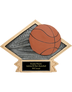 Diamond Plate Basketball Plaque