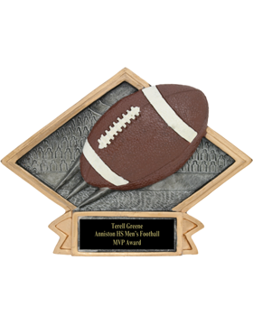 Diamond Plate Football Plaque