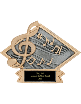 Diamond Plate Music Plaque