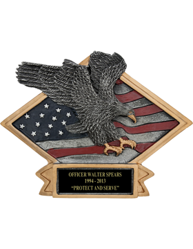Diamond Plate Eagle Plaque