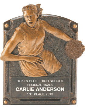 Basketball Legend of Fame Plaque, Female