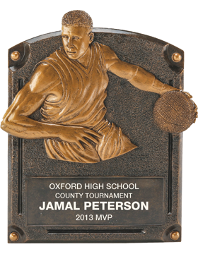 Basketball Legend of Fame Plaque, Male