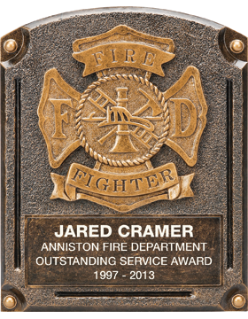 Fire Department Legend of Fame Plaque