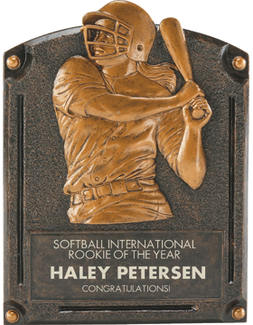 Softball Legend of Fame Plaque