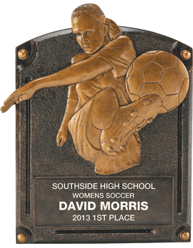 Soccer Legend of Fame Plaque