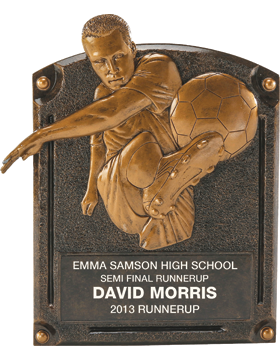 Soccer Legend of Fame Plaque, Male