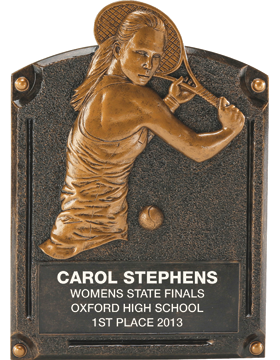 Tennis Legend of Fame Plaque, Female