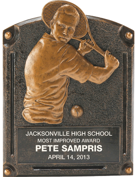 Tennis Legend of Fame Plaque, Male
