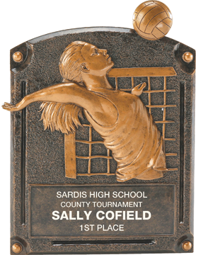 Volleyball Legend of Fame Plaque, Female