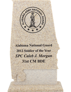 AcrylaStone Alabama State Plaque, 5.25in x 9.25in