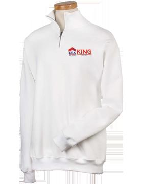 ERA King Quarter-Zip White Sweatshirt 995M