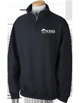 ERA King Quarter-Zip Black Sweatshirt 995M