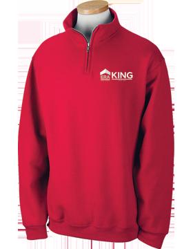 ERA King Quarter-Zip Red Sweatshirt 995M