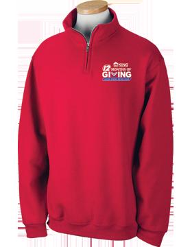 ERA King 12 Months of Giving Quarter-Zip Red Sweatshirt 995M