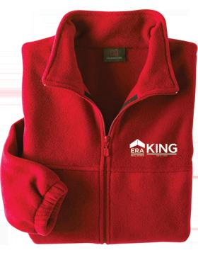 ERA King Harriton Red Full-Zip Fleece