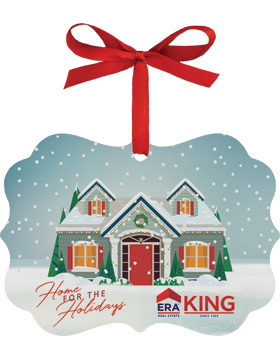 ERA King Christmas Ornament Benelux Style with Red Ribbon