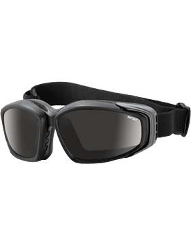 Advancer V-12 Goggles with 2 Lens Clear/Smoke EYE-ESS/EAI-BKR small