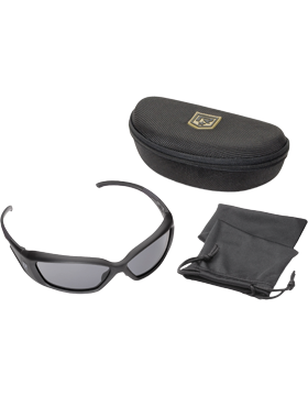 Hellfly Ballistic Sunglasses, Smoke Lens with Black Frame