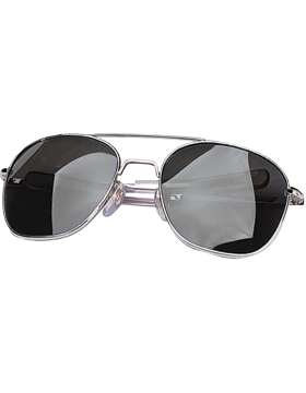 Aviator Sunglasses 52mm Smoke Lenses & Chrome Frame 10604C