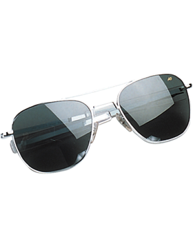 Genuine Aviator Sunglasses 52mm Gray Lenses & Matte Chrome Frame 10701MC