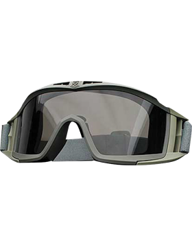 Desert Locust Frame Goggle Clear & Smoke Lenses with Case