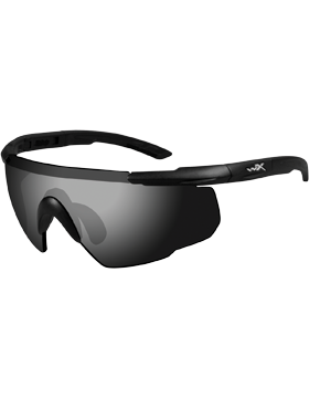 Saber Advanced Glasses with Smoke Lenses and Matte Black Frame 302