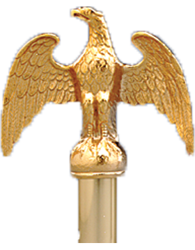 5 inch Eagle with Antique Gold Plated Finish