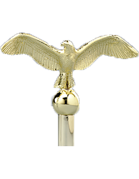8.5in Classic Eagle with Plastic Brass Plated Finish small