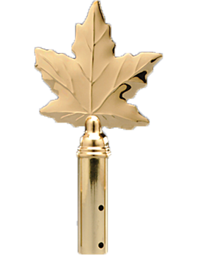 8.25in Maple Leaf Solid Brass