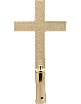 8in Classic Church Cross Gold Finish ABS