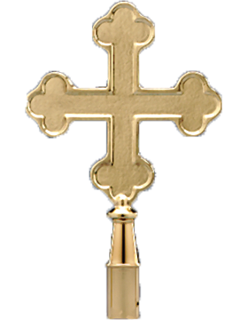 10 1/8in Botonee Cross Solid Brass Polished & Lacquered