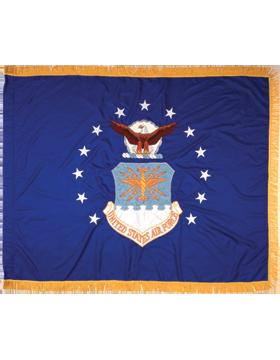 F-AF-02A, US Air Force Flag 3' x 4', Rayon, Indoor with Fringe (Reg)