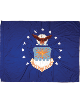 F-AF-02D, US Air Force Flag 3' x 5', Rayon, Indoor without Fringe
