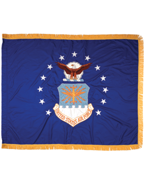F-AF-02E, US Air Force Flag 4'4in x 5'6in, Rayon, Indoor with Fringe (Reg)