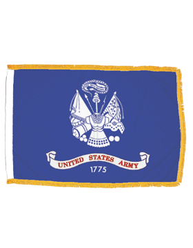 US Army Field Flag Indoor with Fringe