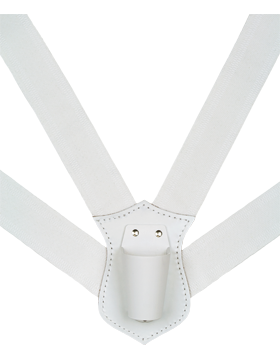 Flag Carrier, Double Strap White Webbing