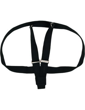 Flag Carrier, Double Strap Black Web with Web Cup