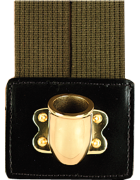 Flag Carrier, Double Strap Olive Drab Web with Gold Cup
