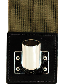 Flag Carrier, Double Strap Olive Drab Web with Chrome Cup