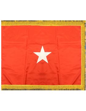 Army General Flag Pole Hem with Fringe - Army