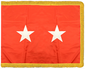 Army General Flag Pole Hem with Fringe