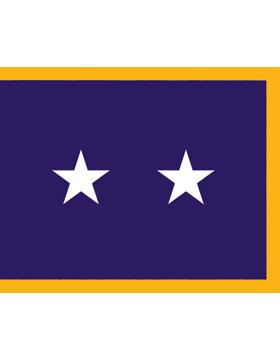 USAF Major General Flag Pole Hem 2 Star