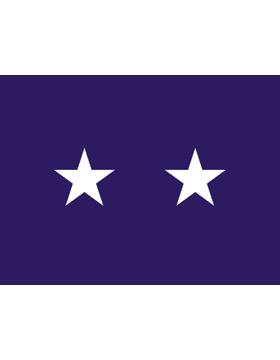 USAF Major General Flag Header and Grommet 2 Star